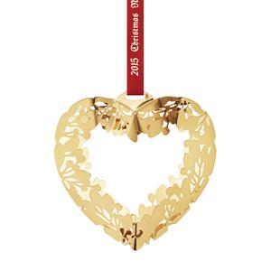 GJ 3410215 Christmas Ornament 2015, Gold Heart