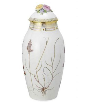 RC #2144741 Vase with Lid, Winter 13 1/2 in.