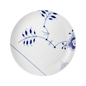 RC Blue Fluted MEGA Coupe Lunch Plate #1016906