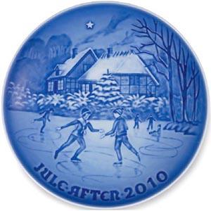 2010 B&G Christmas Plate - Ice Dancing on the Lake