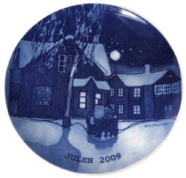 2009 Porsgrund Christmas Plate, Winter Night