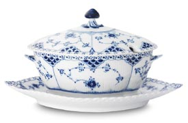 Royal Copenhagen Blue Fluted Full Lace  Ref. Matching No: #1103375 and #1148  Fa