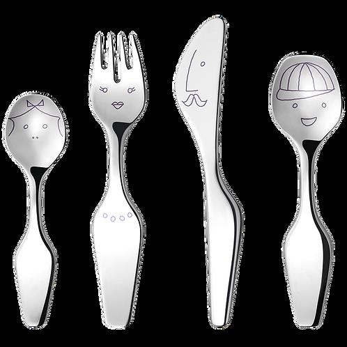 GJ 3580049 ALFREDO The Twist Family Cutlery Set 4 Pcs. Cutlery Set