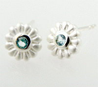 Josefine | Flower Earrings, Silver
