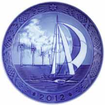 2012 RC Christmas Plate - Sailing the North Sea