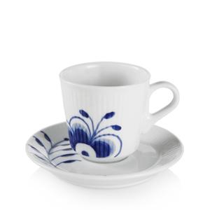 RC Blue Fluted MEGA Espresso Cup & Saucer #1016875