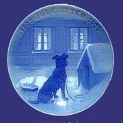 1925 B&G Dog Outside Window