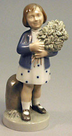 RC 4527 'May'- Girl with Flowers