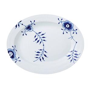 RC Blue Fluted MEGA Oval Platter 14.4 in. #1016891