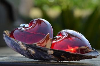 Josefine | Large Murano Glass Heart, Red