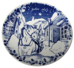 2007 Porsgrund Christmas Plate, In Stavanger