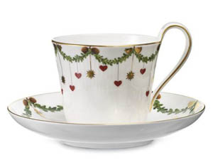 RC #1017438 Star Fluted High Handle Cup & Saucer
