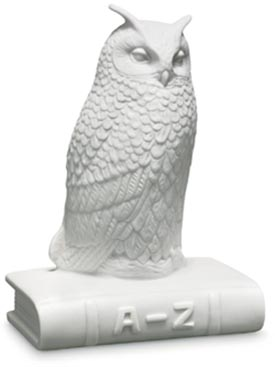 RC 1249431 The Wise Owl, White