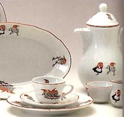 Porsgrund Nisse Tea Cup and Saucer 7 1/3 oz