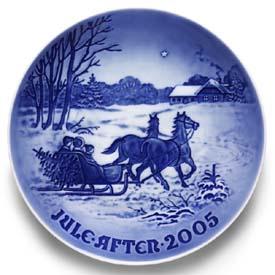 2005 B&G Christmas Plate - Bringing Home The Tree