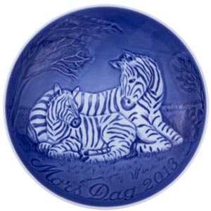 2013 B&G Mother's Day Plate, Zebra and Young