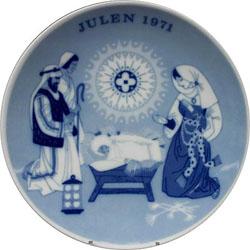 1971 Porsgrund Christmas Plate, A Child is Born