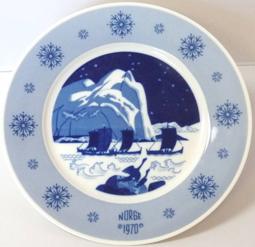 1970 Porsgrund Norge Plate 10 3/4 in.
