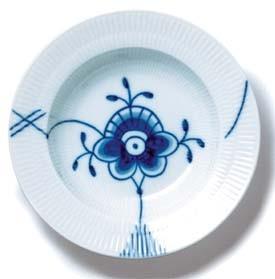 RC Blue Fluted MEGA Rim Soup Plate #2384604