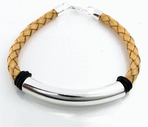 Josefine | Leather Bracelet, Beige