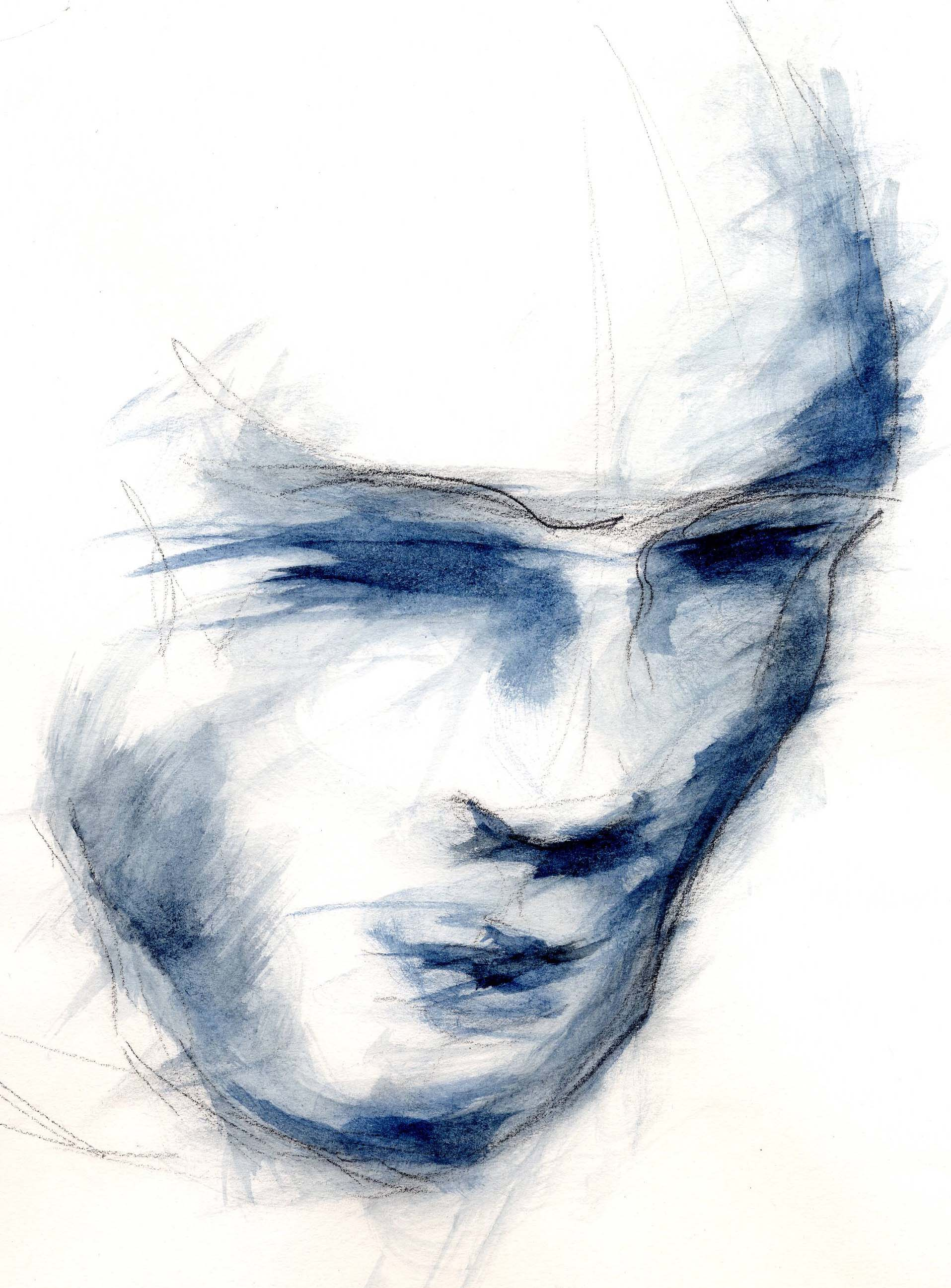 """""""Visage Bleu"""", Tony Chapuis"""