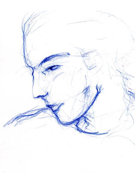 homme bleu001