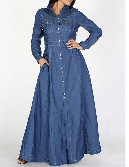 Denim Dress w/Sleeves