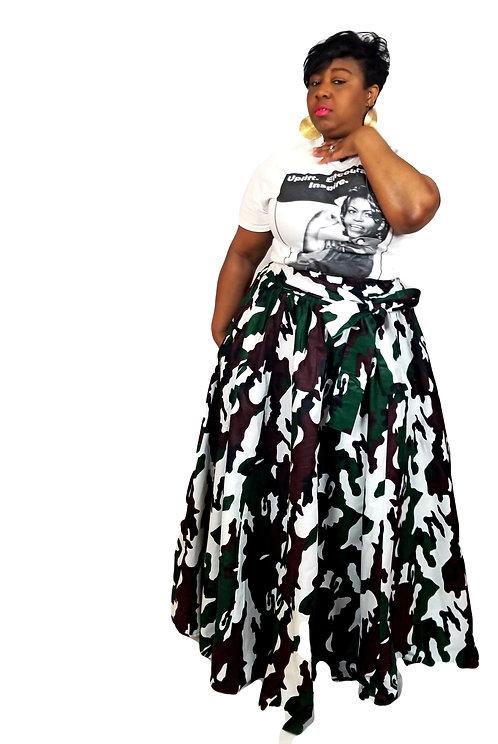 Camo Maxi Skirt