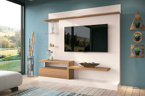 """""""PALADIO"""" ENTERTAINMENT CENTER IN OFF WHITE AND NATURAL FINISH"""