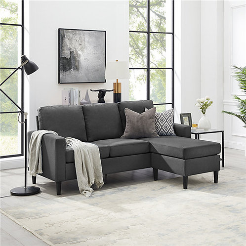 """""""CALVIN"""" REVERSIBLE SOFA CHAISE IN GREY OR BLUE UPHOLSTERY"""