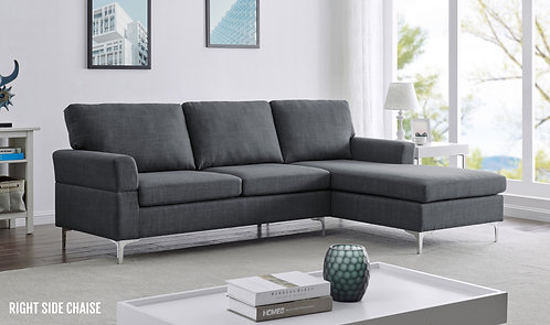 """""""LARRY"""" SECTIONAL UPHOLSTERED IN GREY FABRIC"""