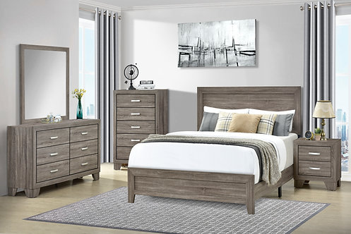 AUSTIN 4 PCS  FULL OR QUEEN BEDROOM SET IN TAUPE