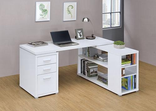 YVETTE L-SHAPE OFFICE DESK  IN WHITE OR GREY