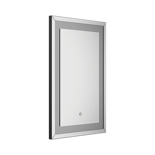 RECTANGLE WALL MIRROR IN SILVER