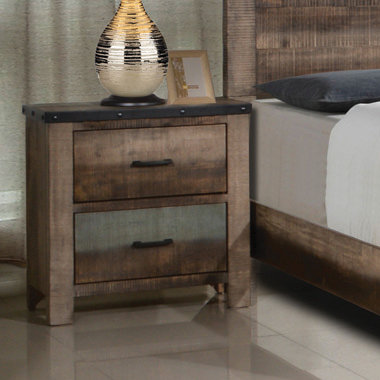 """""""SEMBENE"""" 2-DRAWER NIGHTSTAND IN ANTIQUE MULTICOLOR"""