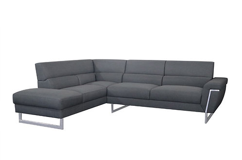 """""""JACK"""" 2PCS SECTIONAL UPHOLSTERED IN GREY FABRIC"""