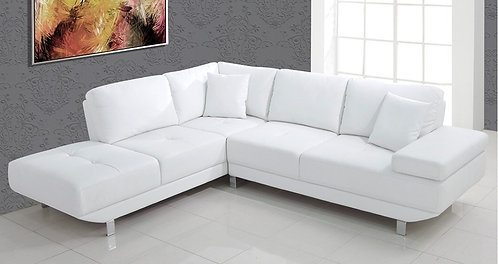 """""""ALTICO"""" 2-Pcs Sectional White Upholstery"""