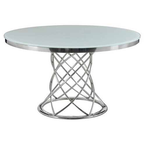 """""""CHRISTIE"""" ROUND DINING TABLE IN SILVER"""