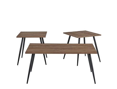 """""""JOYCE"""" 3-PACK TABLE SET IN PB MELAMINE TOP"""