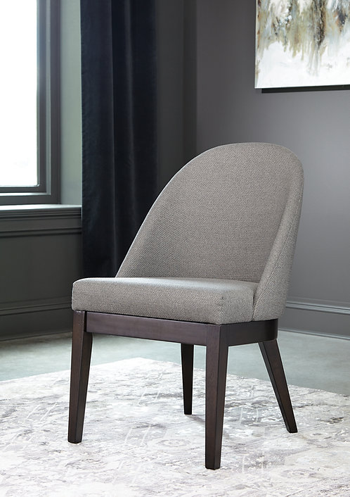 """""""BENTON"""" DINING CHAIR IN AMERICANO AND LIGHT GREY FABRIC"""