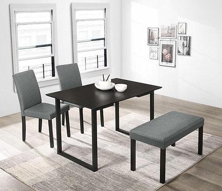 """LIVA"" 4-PCS DINING SET IN WALNUT FINISH"