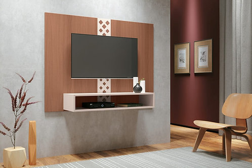 """""""FORM"""" FLOATING WALL UNIT IN OFF WHITE AND NATURAL FINISH"""