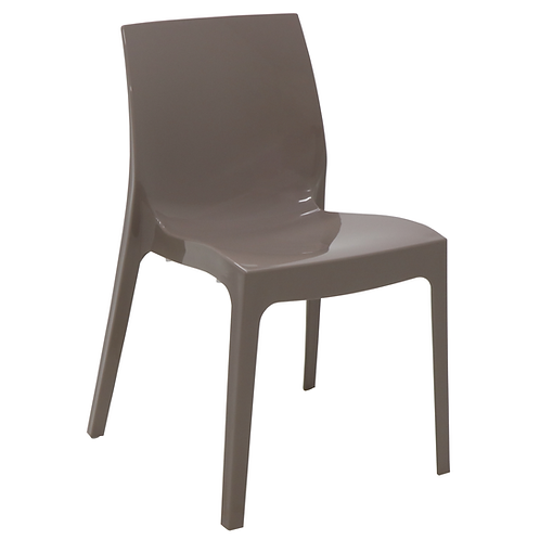 """""""ALICE"""" CHAIR IN GLOSSY TAUPE"""