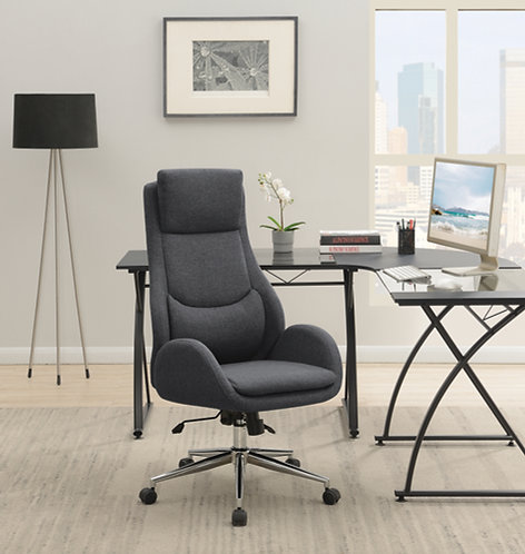 """""""COULSON"""" PADDED OFFICE CHAIR IN GREY AND CHROME BASE"""