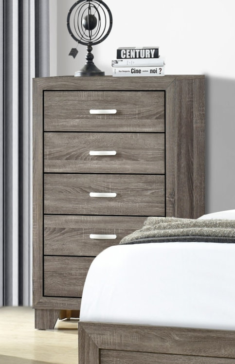 """""""AUSTIN"""" 5-DRAWER CHEST IN TAUPE FINISH"""