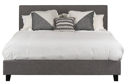 """""""BOLTON"""" UPHOLSTERED BED IN ALL SIZES IN GREY FABRIC"""