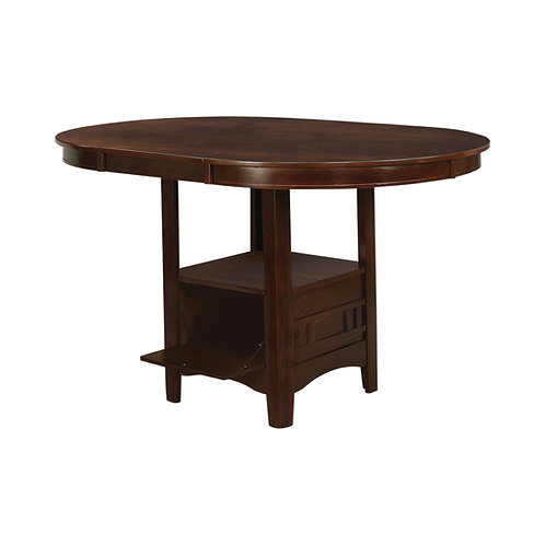 """""""LAVON"""" ROUND OR OVAL COUNTER HEIGHT TABLE IN WARM BROWN"""