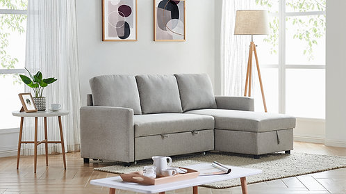 ISABEL REVERSIBLE STORAGE SOFA BED INVARIOUS COLORS FABRIC