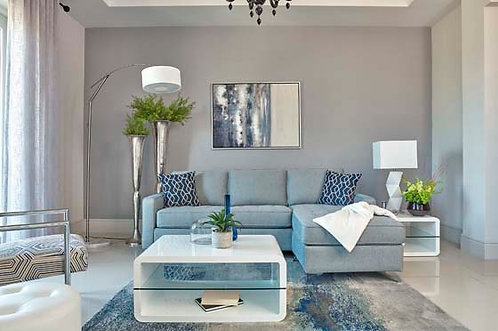 """""""NASHUA"""" REVERSIBLE SECTIONAL IN FRENCH BLUE FABRIC"""