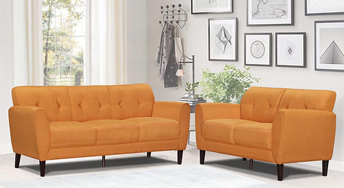 """""""NIT"""" 2-PCS LIVING ROOM SET IN GREY OR MUSTARD FABRIC"""